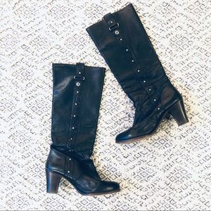 FRYE $400 Fiona Stitch Pull On Boot in Black